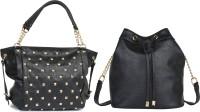 Lychee Bags Women Black PU Satchel