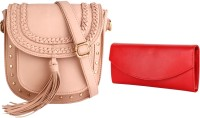 Lychee Bags Women Pink, Red PU Sling Bag