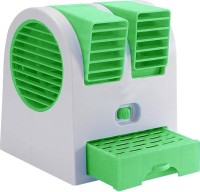 View JBD Portable Mini Air Conditioning X1TB USB Fan(Green, White) Laptop Accessories Price Online(JBD)