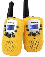 View Retevis Kids Walkie Talkie UHF 462.5625-467.7250MHz 22CH LCD Display Flashlight VOX Toy 2 Way Radio For Children RT-388 Walkie Talkie(Yellow) Home Appliances Price Online(Retevis)