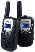 View Retevis Kids Walkie Talkie UHF 462.5625-467.7250MHz 22CH LCD Display Flashlight VOX Toy 2 Way Radio for Children RT-388 Walkie Talkie(Black) Home Appliances Price Online(Retevis)