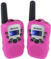 View Retevis Portable Kids Walkie Talkie 22 Channel FRS/GMRS LCD Display Flashlight VOX Toy2 Way Radio for Children RT-388 Walkie Talkie(Pink) Home Appliances Price Online(Retevis)