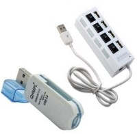 View Ad Net Multi Card Reader & USB 4 Port Hub Combo Set Laptop Accessories Price Online(Ad Net)