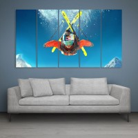 Inephos Multiple Frames Steep Skiing Wall Painting Digital Reprint Painting(30 inch x 52 inch)