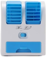View esnap Mini Fragrance Air conditioner Cooling USB Fan (Blue) MIni AC USB Charger(Blue) Laptop Accessories Price Online(esnap)