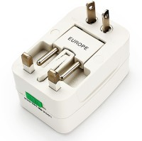 VibeX ® Universal Travel International Charger Worldwide Adaptor(White)