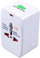 VibeX ® Universal International All in One Travel Charger Worldwide Adaptor(White)