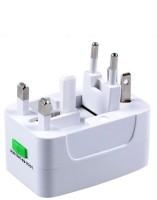 VibeX ™ Multifunctional Travel International Plug Universal AC Socket Worldwide Adaptor(White)
