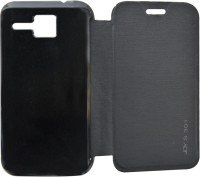COVERNEW Flip Cover for Micromax Bolt S301(Black, Flip Cover, Artificial Leather, Plastic)