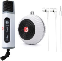 TECHNOGEEK Karaoke Now 1 Audio Cable, 1 Audio to Usb Cable, 1 Earphone, 1 Usb Charger(White)