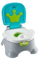 Fisher-Price Royal Stepstool Potty Potty Seat(White, Green)