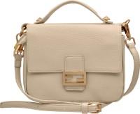 tap fashion Women White PU Sling Bag
