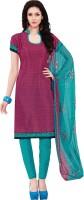 Kalinda Art Silk Printed Salwar Suit Dupatta Material(Un-stitched)