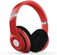 REJUVENATE TM-010 WITH TF CARD & FM SUPPORT Headset with Mic(Red, Over the Ear)