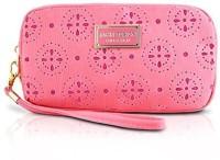 Jacki Design ABC38016CO Cosmopolitan Cosmetic Bag With Wristlet Coral Cosmetic Bag(Pink)