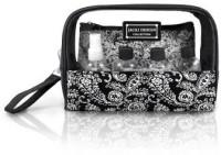Jacki Design AHL15026BK Mystique 6 Piece Cosmetic Bag and Travel Bottle Set Black Cosmetic Bag(Black)