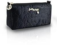 Jacki Design Royal Blossom Collection Compact Cosmetic Organizer Cosmetic Bag(Black)