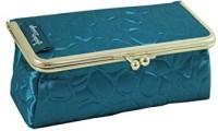 Jacki Design ABD14031BU Royal Blossom Clasp Cosmetic Bag & Eyeglass Case Blue Cosmetic Bag(Blue)