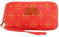 Jacki Design ABC38016OR Cosmopolitan Cosmetic Bag With Wristlet Orange Cosmetic Bag(Orange)