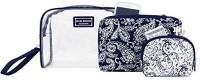 Jacki Design Mystique 3 Pc Cosmetic Bag Set w/ Wristlet (Blue) Cosmetic Bag(Blue)