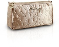 Jacki Design Royal Blossom Collection Compact Cosmetic Organizer (Champagne) Cosmetic Bag(Gold)