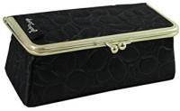 Jacki Design ABD14031BK Royal Blossom Clasp Cosmetic Bag & Eyeglass Case Black Cosmetic Bag(Black)
