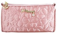 Jacki Design Royal Blossom Collection Compact Cosmetic Organizer (Pink) Cosmetic Bag(Pink)