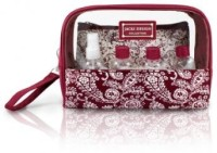 Jacki Design AHL15026RD Mystique 6 Piece Cosmetic Bag and Travel Bottle Set Red Cosmetic Bag(Red)