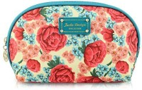 Jacki Design Miss Cherie Top Round Travel Cosmetic Bag - Blue Cosmetic Bag(Blue)