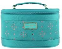 Jacki Design Lightweight Fabric Cosmopolitan Beauty Train Travel Case -- Several Colors (Green) Cosmetic Bag(Blue)