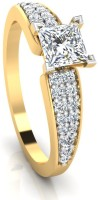 IskiUski The Kare Diamond 14kt Swarovski Crystal Yellow Gold ring