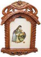Halowishes Wooden Jharokha(48 cm x 28 cm Handcrafted)