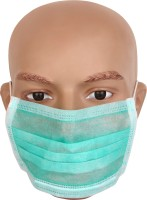 Ashwa Group Pack of 50 Green Non Woven Disposable (with Earloops)  Face Shaping Mask