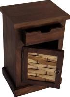 View TimberTaste ALASKA Solid Wood Side Table(Finish Color - Walnut & Natural) Furniture (TimberTaste)