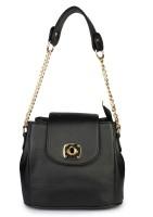 Shoetopia Women Black PU Sling Bag