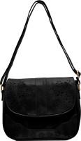 tap fashion Women Black PU Sling Bag