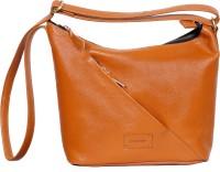 l'ange LEATHER HEANDBAG Sling Bag(Tan, 5 L)