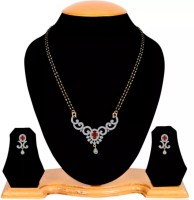 You Bella Alloy Jewel Set(Red, Gold)