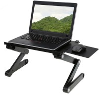 CureNext Metal Portable Laptop Table(Finish Color - Black)