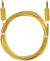 Clunker 3.5mm Male to Male 2 meter long JB15 AUX Cable(Gold)