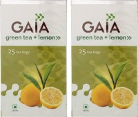 GAIA Lemon 25TB (Pack of 2) Lemon Green Tea(50 g, Box)
