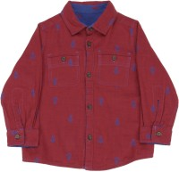 United Colors of Benetton Boys Printed Casual Blue, Maroon Shirt