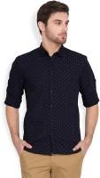 Highlander Men's Polka Print Casual Slim Shirt