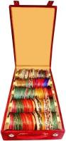 Atorakushon 5 Roll Rod Bangles Jewelry Storage Vanity Box(Maroon)