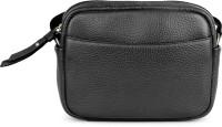 Da Milano Women Black Genuine Leather Sling Bag