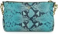 Da Milano Women Blue Genuine Leather Sling Bag