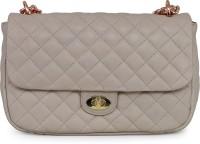 Da Milano Women Beige Genuine Leather Sling Bag