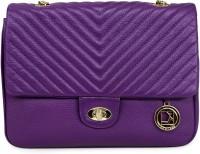 Da Milano Women Purple Genuine Leather Sling Bag