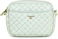 Da Milano Women White Genuine Leather Sling Bag
