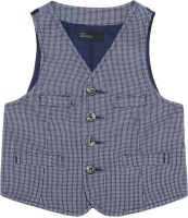 United Colors of Benetton. Checkered Boys Waistcoat